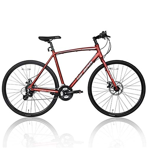 Hiland Road Hybrid Bike Urban City Commuter Bicycle with Disc Brake for Men Comfortable...