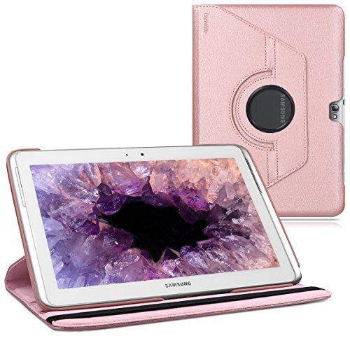 kwmobile Hülle kompatibel mit Samsung Galaxy Note 10.1 N8000 / N8010-360° Tablet Schutzhülle Cover Hülle Rosegold