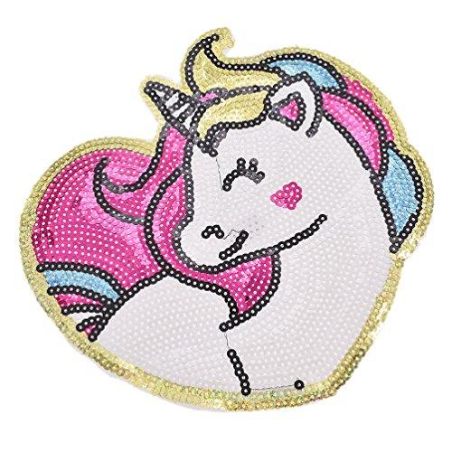 YNuth Parche Lentejuelas Termoadhesivo Diseño Unicornio