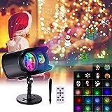 Luces Proyector Navidad LED, FOCHEA Luces de Proyector Interior y Exterior 13 Ondas 9 Patrón con Control Remoto Impermeable para Halloween, Navidad,Fiesta