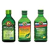 3 Pack Moller's Fish Oil Norwegian Dietary Supplement | Lemon | Apple | Fruit3 x 8.45 fl oz