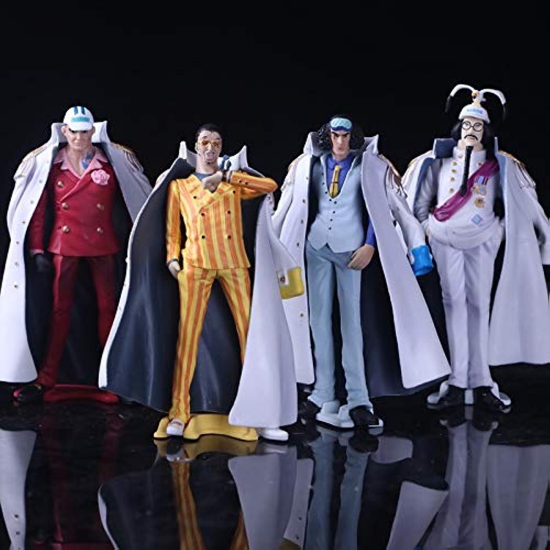 Blood Sky 4pcs Set Anime One Piece Navy Headquarters Senior General Figure Kuzan Borsalino Sakazuki Sengoku PVC Model Toys 130 MM