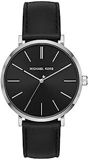 Men's Auden Three-Hand Silver-Tone Alloy Watch MK7145