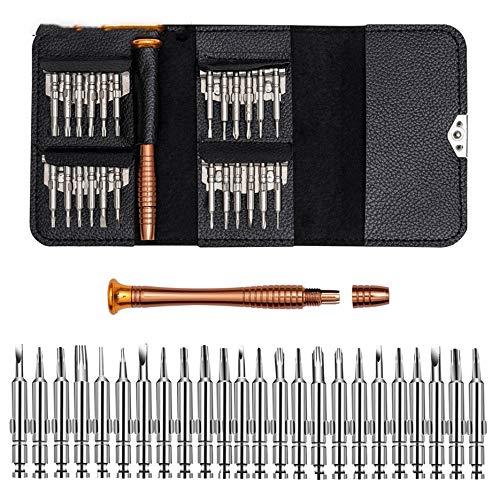 N / E Estuche de cuero 25 en 1 destornillador Torx Set de herramientas de reparación de teléfono móvil Kit de herramientas multiherramienta de mano para iPhone Watch Tablet PC