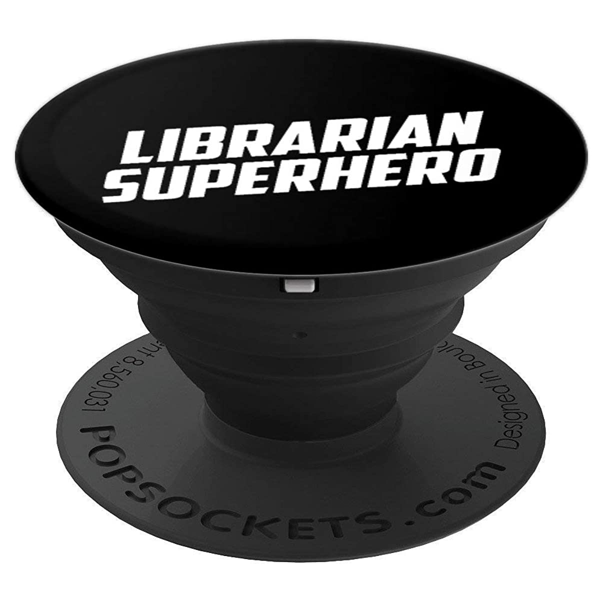 Librarian Superhero Library Literacy Gift - PopSockets Grip and Stand for Phones and Tablets