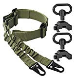 SMALLRT 2 Point Sling Quick Adjust with 2 Pack QD Sling Swivels Mount, Push Button Quick Release Sling Attachment Point for Picatinny/Weaver Rail