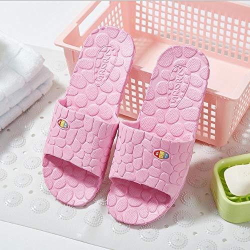 YYFF Hombres Verano Flip-Flop Sandalias,Ciabatte da bagno maschili e femminili,massaggio Soft Canal-Pink_38,Chanclas Hombre