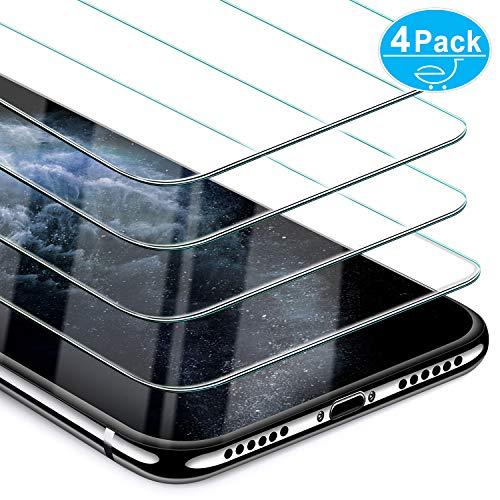 Beikell [Pacco da 4 Pellicola Protettiva in Vetro Temperato Compatibile con iPhone XS/X 5,8''- Durezza 9H, Anti graffio, Senza Bolle, Alta Definizione, Facile da Pulire