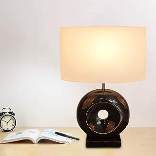 Lampe de Table Lampe de Table Cercle Noir 42 * 20 * 60cm Bureau Salon Chambre étude Lampe de Lecture résine Ornements déco...