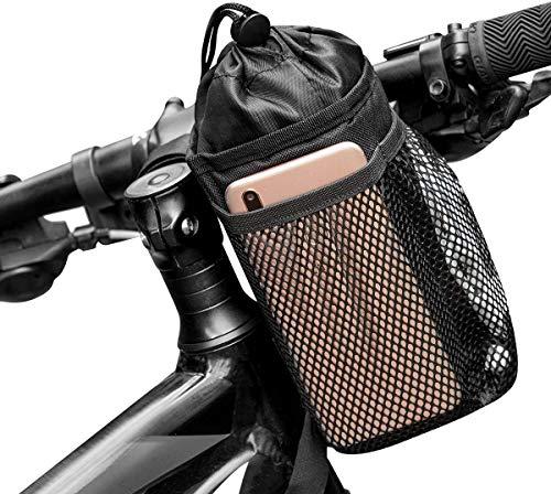 Vihir Flaschenhalter Trinkflaschenhalter Lenkertasche Fahrrad für Trinkflasche Wasserdichter, Isolierte Fahrradtasche mit Flaschenhalter, Kühltasche Thermotasche Flaschentasche für Wasserflasche