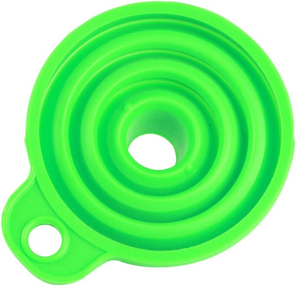 VANKOA Faltbare Faltbare Hitzebeständige Öl Wasser Flüssigkeits Küche des Silikon Trichters - Blau Grün