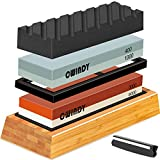 CWINDY 3000/8000, 400/1000 Grit Knife Sharpening Stone Whetstones Set Angle Guide, Bamboo Base and...