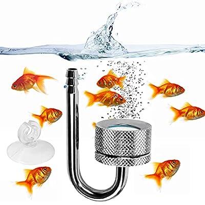 Aquarium CO2 Diffuser, Aquarium CO2 Atomizer System with Suction Cup Aluminum Alloy, Stainless Steel CO2 Diffuser with U-Shape Connecting Tube for Aquarium Planted Tank