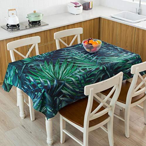 Ziruixiong Tovaglia Foglia di Banana Tropicale Tovaglia Impermeabile Toalha De Mesa Nappe Decoracao para Casa Manteles Copritavolo 140X200Cm