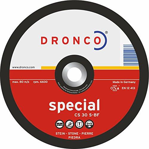 Dronco, Schruppscheibe 125 x 6 x 22,23 , CS 30 S , für Stein und Beton, Schleifscheibe (10 Stück)