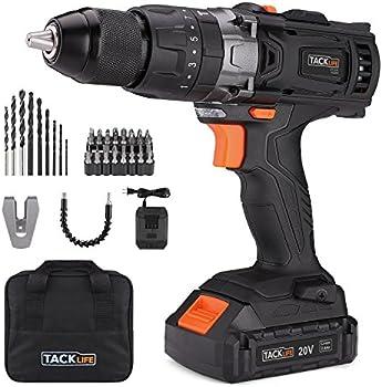 Tacklife 20V Cordless Drill/Driver