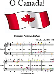 O Canada Easy Piano Sheet Music with Colored Notation (English Edition)