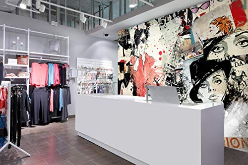 3D Girl Doodle 3146 Business Wall Print Decal Wall Deco Murals Removable Wall Mural | Selbstklebende große Tapete, AJ UK Angelia (Need Glue), 312 x 219 cm (BxH)
