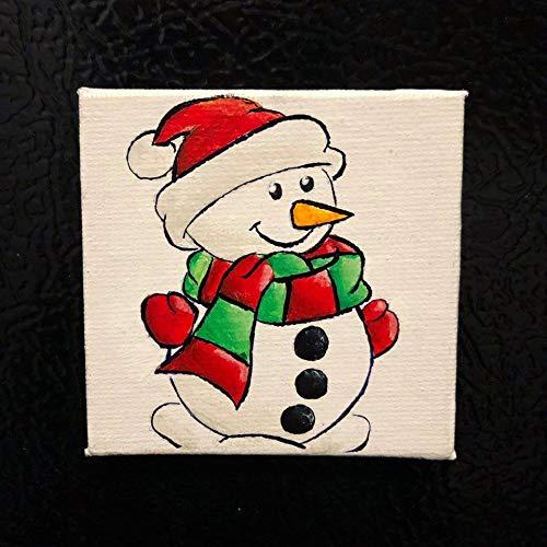 Ced454sy Sneeuwman Magneet Huisdecoratie Keuken Decor Koelkast Magneet Sneeuwman Decor Sneeuwman Schilderij Kerst Decoraties Winter Decor