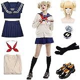 Updayday Himiko Toga Disfraz de Cosplay My Hero Academia Disfraz de Cosplay JK Uniforme Escolar Mujeres Anime Cosplay Disfraz Uniforme Escolar Traje para Halloween