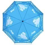 Plemo Regenschirm, Sonniger Himmel Automatik Taschenschirm (94 cm Durchmesser) - 7