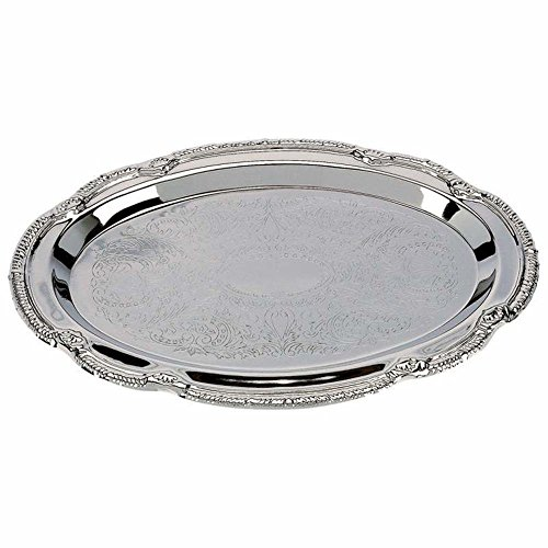 Decorative trays - Nickel Plated - Set of 4 Oval Shaped trays