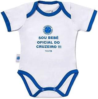 Rêve D'or Sport - Body Bebê Oficial Cruzeiro Unissex, M, Branco/Azul