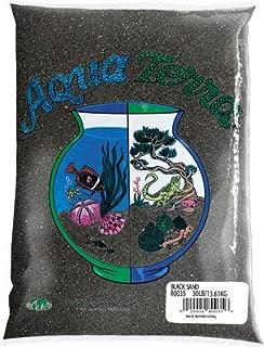 Nature's Ocean Aqua Terra Black Sand 5 lb Bag, Natural Aquarium Sand