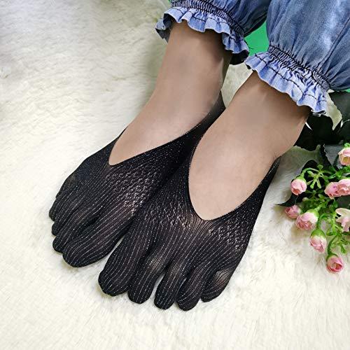 Bilibony Calcetines de Las Mujeres, Four Seasons Split Toe Skills Socks, Yoga con Zapatos Deportivos, Malla Hueca Boca Baja Calcetines Invisibles De Cinco Dedos (Color : C)