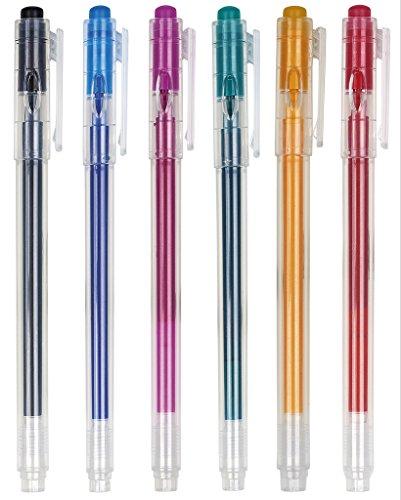 moses. 82098 Home Office Tintenroller zum Ausradieren, 6er Set, In 6 Farben