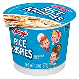 Kellogg's Rice Krispies, Breakfast Cereal in a Cup, Fat-Free, Bulk Size, 12 Count (Pack of 12, 1.3 oz Cups)