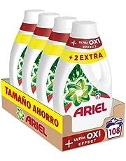 Ariel Vloeibaar wasmiddel voor wasmachine, 108 wasbeurten (4 x 27), vlekverwijderingseffect