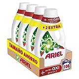 Ariel Detergente Lavadora Líquido, 108 Lavados (Pack 4 x 27), Efecto Oxi...