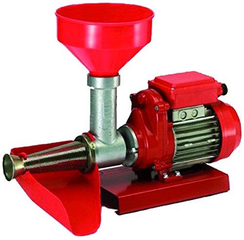 Artus 9008NE Passapomodoro Elettrico per Passata di Pomodoro e Marmellate 400W, Fino a 100 kg/h di passata, Nero/Rosso