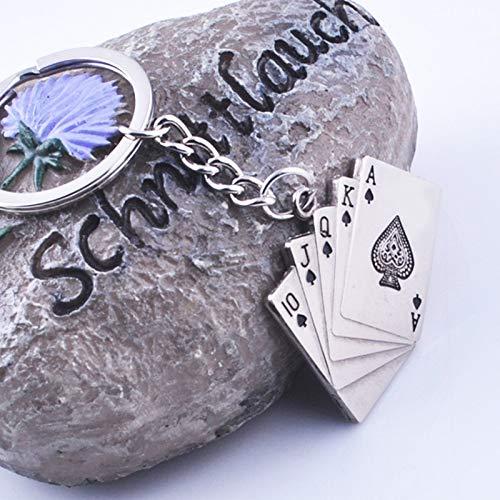YCEOT sleutelhanger mode speelkaart sleutelhanger metalen solitaire sleutelhanger nieuwigheden beste cadeau voor man auto sleutelhanger vrouw handtas hanger