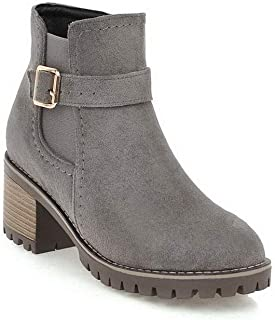 BalaMasa Womens Nubuck Travel Platform Leather Boots ABL11537