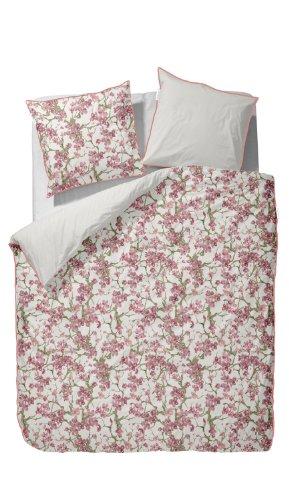 Essenza Aimee–Juego de cama (satén Mia, 100 % algodón, rosa, 80 x 80 cm - 155 x 220 cm