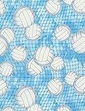 Timeless Treasures Stoff-Score! Volleyball, Blau