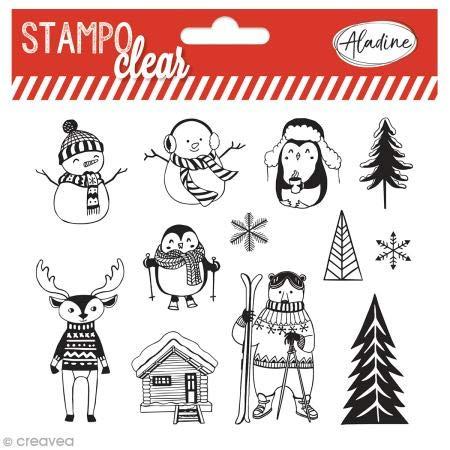Aladine 04230 Stampo Clear Noël