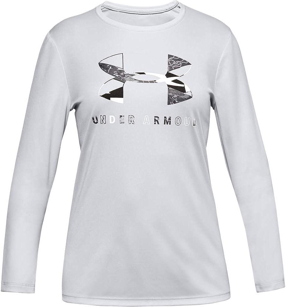 Under Armour Girls' Big Logo Long T-shirt Long Sleeve