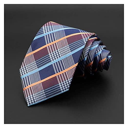 Men's Tie Classic Solid Color Stripe Floral Jacquard Necktie Accessories Daily Wear Cravat Wedding Party Gift (Color : 15, Size : One Size)
