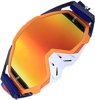 DHRH Gafas de esquí,Gafas de Moto de Motocross para Adultos Gafas de Carreras Gafas de Moto de Suciedad Gafas y esquíes Snowborading con Tela de Gafas