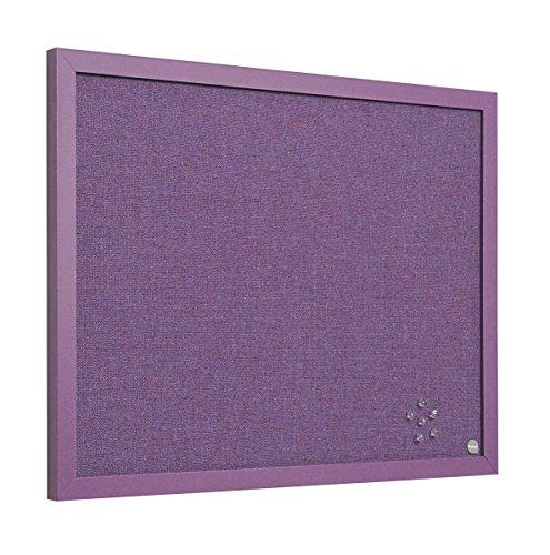 Bi-Office Pinnwand Lavender, Notiztafel mit Violett Textiloberfläche, Lila MDF Rahmen, 22 mm dicker, 60 x 45 cm
