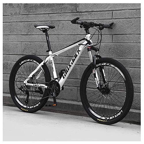 Chenbz Deportes al Aire Libre Bicicleta de montaña 21 Velocidad de 26 Pulgadas de Doble Disco de Freno Suspensión Tenedor de suspensión Bicicletas Antideslizantes, Blancos