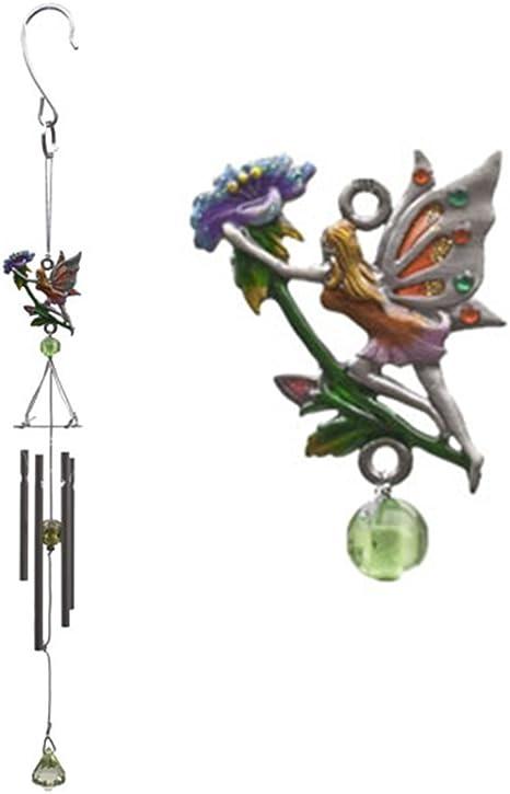 Fairy Garden Accessory WC-14 Red Garden Fairy Wind Chime