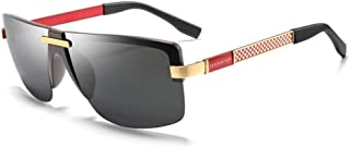 SGJFZD New Men's Metal Polarized Colorful Sunglasses Classic Trend Sunglasses Driving Mirror UV400 (Color : Red)
