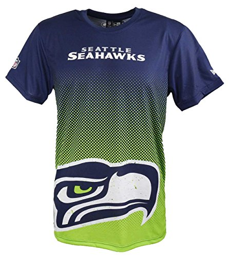 New Era Seattle Seahawks Tee/T Shirt NFL Gradient Tee Navy - L
