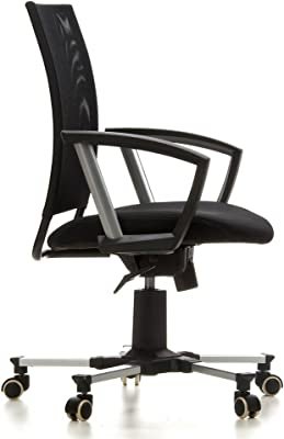 hjh OFFICE 642200 Arial - Silla de Escritorio giratoria, Color Negro