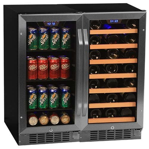 Edgestar 30 Bottle + 80 Can Side-by-Side 30' Wide Wine & Beverage Center