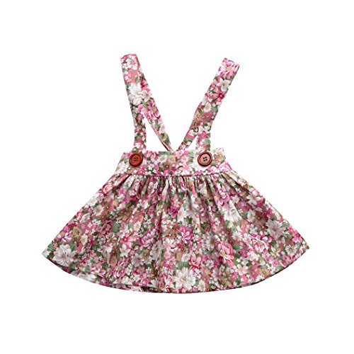 JERFER Neugeborenen Baby Mädchen Print Straps Backless Kleid Overall Outfits Kleidung Kleid